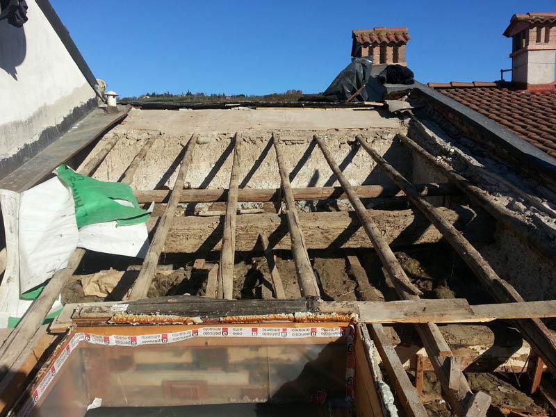 Lavori di ristrutturazione completa del tetto con l'utilizzo dell'unicoppo possagno 3