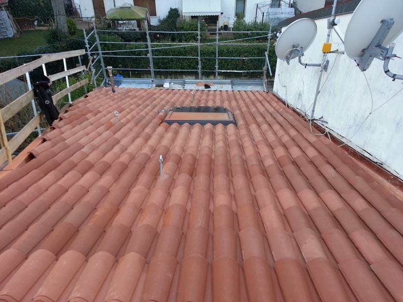 Lavori di ristrutturazione completa del tetto con l'utilizzo dell'unicoppo possagno 6