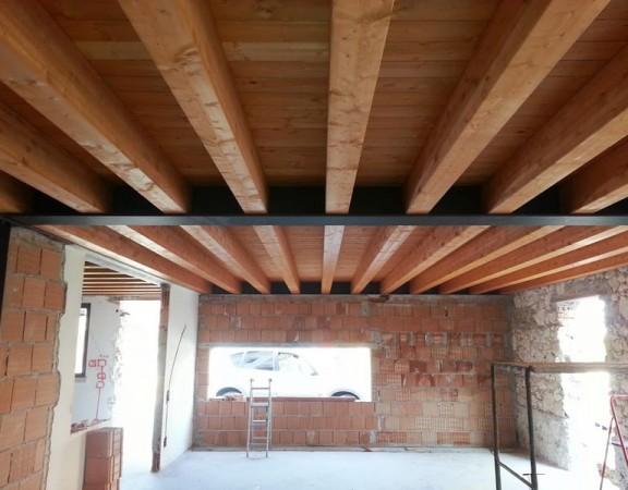 Pensiline e tettoie in legno civer coperture edili for Civer coperture