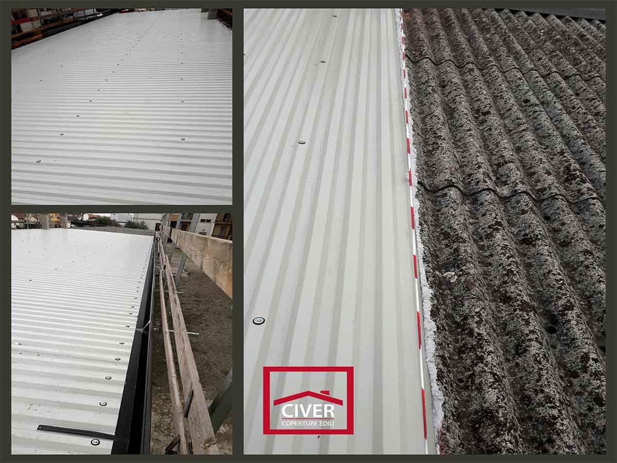 Bonifica e smaltimento eternit su copertura garage civer for Civer coperture