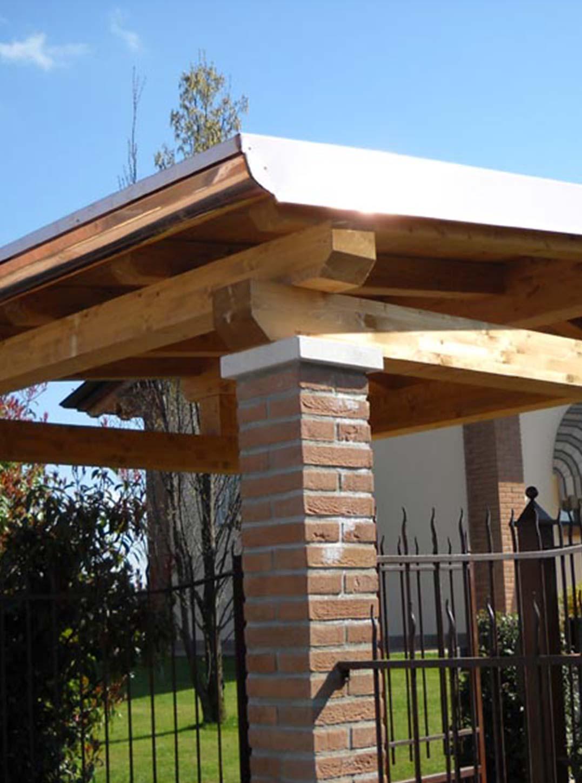 pensiline e tettoie in legno
