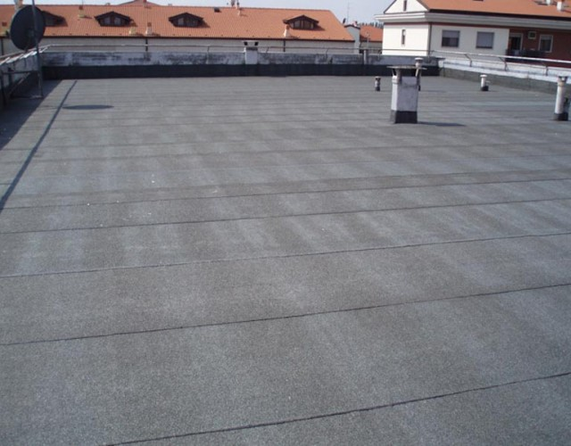 Impermeabilizzazione di un tetto piano