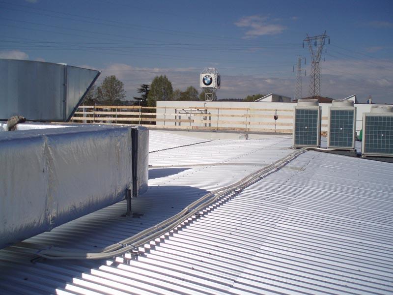 Copertura capannone industriale Coperture industriali di un capannone a Bassona