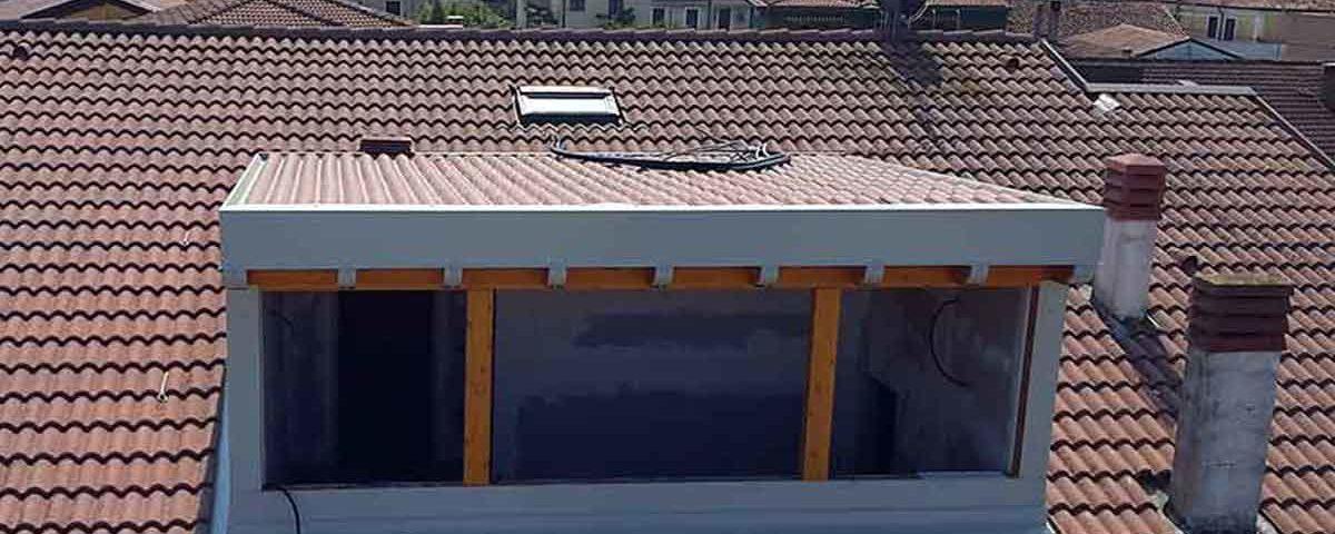 copertura in legno del solarium
